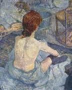 La Toilette, early painting Henri de toulouse-lautrec